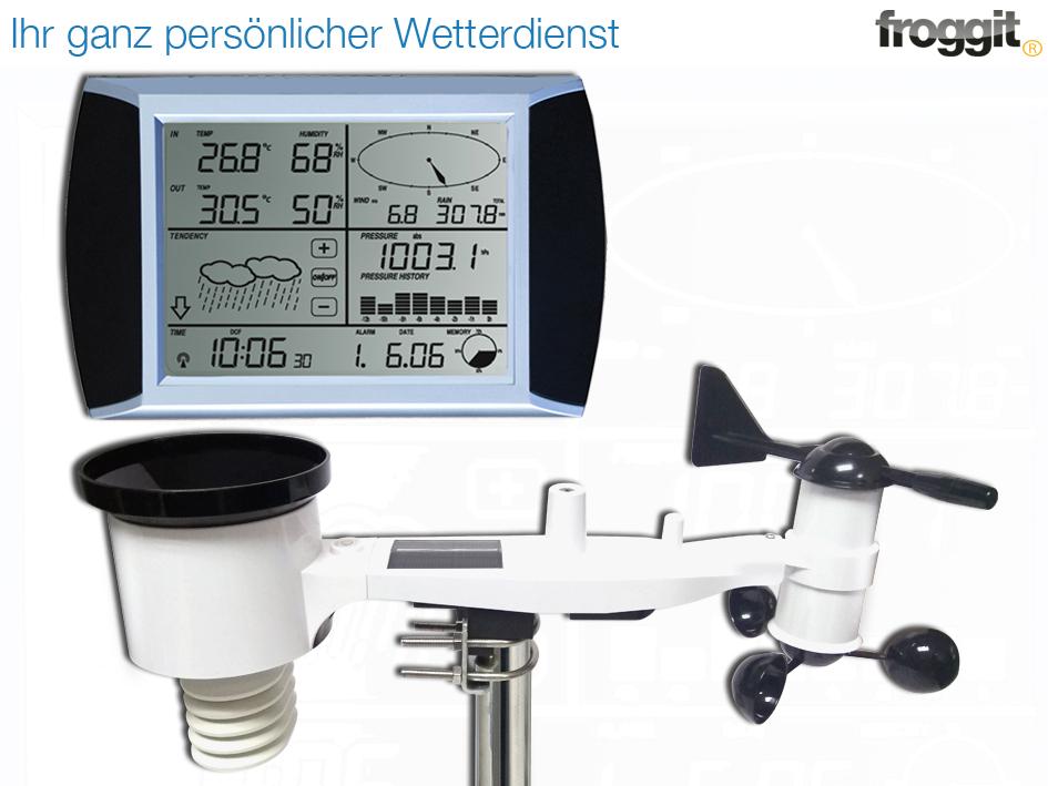 Profi Funk Wetterstation Thermometer Barometer Außen Thermometer Digital Mast
